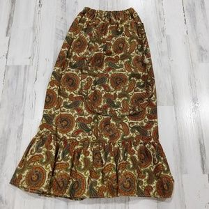 Vintage 70s 80s Ruffle Peasant Hippie Skirt